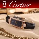 CARTIER-304-3 潮流最新土豪金黑色配黑底316精鋼錶殼瑞士石英腕錶