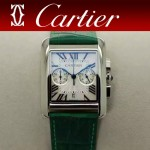 CARTIER-305-3 時尚新款TANK MC CHRONOGROPH多功能跑秒石英腕錶