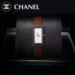 CHANEL-01 時尚女士新款褐色配白底316精鋼錶殼進口石英腕錶