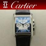 CARTIER-305 時尚新款TANK MC CHRONOGROPH多功能跑秒石英腕錶