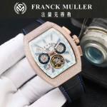 Franck Muller-27-015 潮流時尚新款純手工精工鑲嵌礦物質耐磨玻璃進口機芯男士腕表