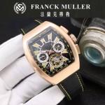 Franck Muller-27-09 潮流時尚新款純手工精工鑲嵌礦物質耐磨玻璃進口機芯男士腕表