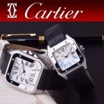 CARTIER-303-01 時尚新款卡地亞壹百周年紀念山度士系列情侶款式瑞士石英腕表