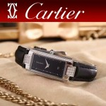 CARTIER-304-2 潮流最新閃亮銀黑色配黑底316精鋼錶殼瑞士石英腕錶