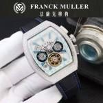 Franck Muller-27-010 潮流時尚新款純手工精工鑲嵌礦物質耐磨玻璃進口機芯男士腕表