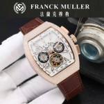 Franck Muller-27-016 潮流時尚新款純手工精工鑲嵌礦物質耐磨玻璃進口機芯男士腕表