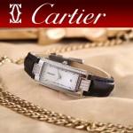 CARTIER-304-8 潮流最新閃亮銀黑色配白底316精鋼錶殼瑞士石英腕錶