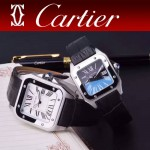 CARTIER-303-02 時尚新款卡地亞壹百周年紀念山度士系列情侶款式瑞士石英腕表