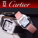 CARTIER-303-07 時尚新款卡地亞壹百周年紀念山度士系列情侶款式瑞士石英腕表