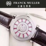 Franck Muller-26-4 名媛摯愛神秘時間系列閃亮銀滿天星鑲鑽2836全自動機機械腕錶