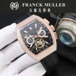 Franck Muller-27-018 潮流時尚新款純手工精工鑲嵌礦物質耐磨玻璃進口機芯男士腕表