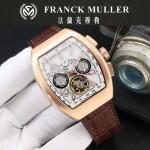 Franck Muller-27-06 潮流時尚新款純手工精工鑲嵌礦物質耐磨玻璃進口機芯男士腕表