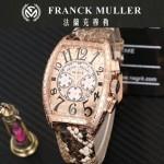 Franck Muller-25-05 潮流時尚新款張智霖代言酒桶型雕刻新品腕表