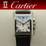 CARTIER-305-4 時尚新款TANK MC CHRONOGROPH多功能跑秒石英腕錶