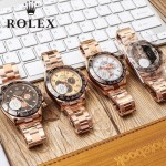 ROLEX-052 商務男士之選土豪金迪通拿系列3836瑞士全自動機械腕錶