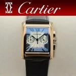 CARTIER-305-6 時尚新款TANK MC CHRONOGROPH多功能跑秒石英腕錶