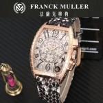 Franck Muller-25-03 潮流時尚新款張智霖代言酒桶型雕刻新品腕表