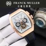 Franck Muller-27-05 潮流時尚新款純手工精工鑲嵌礦物質耐磨玻璃進口機芯男士腕表