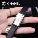 CHANEL-01-7 時尚女士新款黑色配白底316精鋼錶殼進口石英腕錶