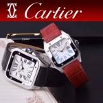 CARTIER-303-04 時尚新款卡地亞壹百周年紀念山度士系列情侶款式瑞士石英腕表
