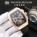 Franck Muller-27-07 潮流時尚新款純手工精工鑲嵌礦物質耐磨玻璃進口機芯男士腕表