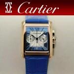 CARTIER-305-7 時尚新款TANK MC CHRONOGROPH多功能跑秒石英腕錶