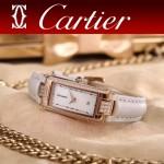 CARTIER-304-11 潮流最新土豪金白色配白底316精鋼錶殼瑞士石英腕錶