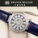 Franck Muller-26-5 名媛摯愛神秘時間系列閃亮銀滿天星鑲鑽2836全自動機機械腕錶