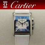 CARTIER-305-13 時尚新款TANK MC CHRONOGROPH多功能跑秒石英腕錶