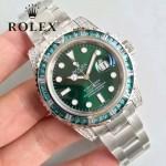 ROLEX-053 勞力士藍寶石鏡面超級夜光超級防水綠鉆圈V7版SUB綠鬼特別版腕表