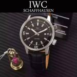 IWC-075-04 商務男士礦物質鋼化玻璃頭層牛皮超級海洋系列全自動機械腕表