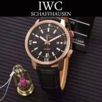 IWC-075-07 商務男士礦物質鋼化玻璃頭層牛皮超級海洋系列全自動機械腕表