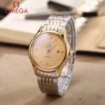 OMEGA-174-12 時尚經典蝶飛系列間金配金底鋼帶款全自動機械腕錶