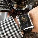 Piaget-024-01 商務男士伯爵黑帶系列手動上鏈機械腕表