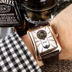 Piaget-024-03 商務男士伯爵黑帶系列手動上鏈機械腕表