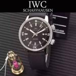 IWC-075-06 商務男士礦物質鋼化玻璃頭層牛皮超級海洋系列全自動機械腕表