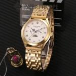 PATEK PHILIPPE-0145-011 百達翡麗進口石英藍寶石鏡面精品男士計時腕表