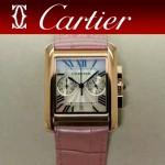 CARTIER-305-12 時尚新款TANK MC CHRONOGROPH多功能跑秒石英腕錶