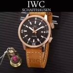 IWC-075-010 商務男士礦物質鋼化玻璃頭層牛皮超級海洋系列全自動機械腕表