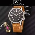 IWC-075-013 商務男士礦物質鋼化玻璃頭層牛皮超級海洋系列全自動機械腕表