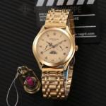 PATEK PHILIPPE-0145-012 百達翡麗進口石英藍寶石鏡面精品男士計時腕表