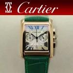 CARTIER-305-9 時尚新款TANK MC CHRONOGROPH多功能跑秒石英腕錶