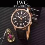 IWC-075-01 商務男士礦物質鋼化玻璃頭層牛皮超級海洋系列全自動機械腕表