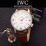 IWC-075-014 商務男士礦物質鋼化玻璃頭層牛皮超級海洋系列全自動機械腕表