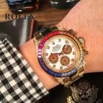 ROLEX-056 勞力士迪通拿藍寶石鏡面奢華彩鉆圈口限量75周年紀念版男士腕表