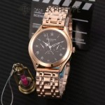 PATEK PHILIPPE-0145-07 百達翡麗進口石英藍寶石鏡面精品男士計時腕表