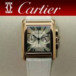 CARTIER-305-11 時尚新款TANK MC CHRONOGROPH多功能跑秒石英腕錶