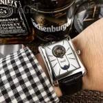 Piaget-024 商務男士伯爵黑帶系列手動上鏈機械腕表