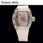 Richard Mille-80-2 潮流奢華男士綠色玻璃殼材質原裝全自動機械腕錶