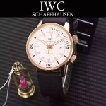 IWC-075-09 商務男士礦物質鋼化玻璃頭層牛皮超級海洋系列全自動機械腕表